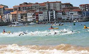 Campeonato de Euskadi de triatlón sprint en Lekeitio