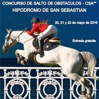 Hípica – El Hipódromo de San Sebastián acoge este fin de semana el Concurso Autonómico de Salto de Obstáculos y Campeonato de Euskadi de Saltos