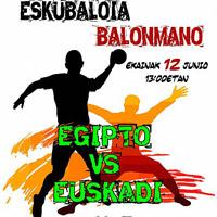 Balonmano – Euskadi juega ante Egipto