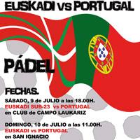 Pádel – Encuentro Amistoso Internacional entre Euskadi y Portugal