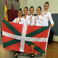 La selección vasca de gimnasia es medalla de bronce en el Campeonato de España en Edad Escolar