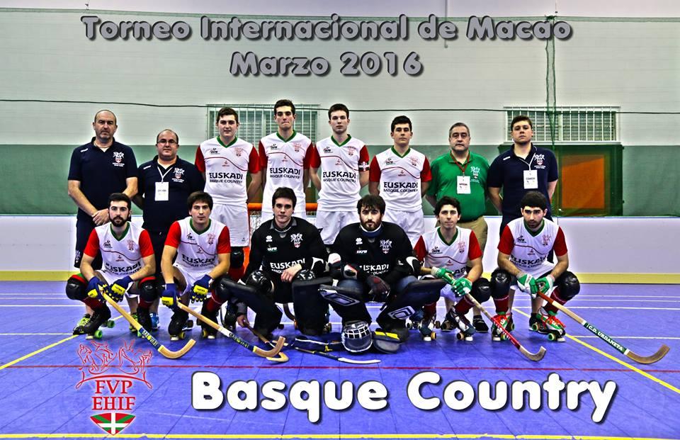 Torneo Internacional de Macao (23 al 28-03-2016) Selección Basque Country Hockey Sobre Patines