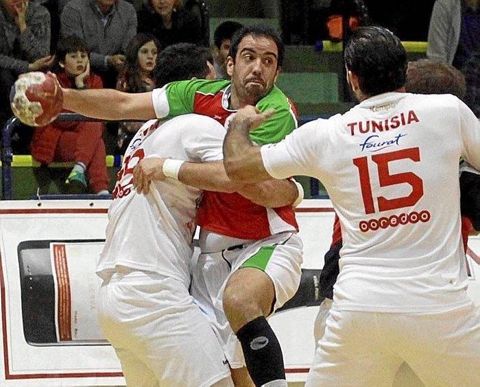 Euskadi 25-Túnez 28 (Barakaldo) (28 de diciembre de 2016) Selección Absoluta masculina de Balonmano