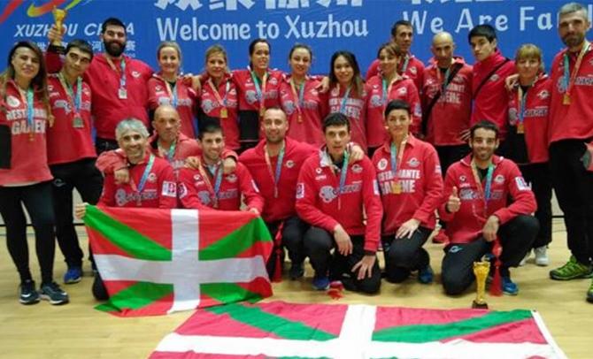 Sokatira – El equipo femenino de Gaztedi, campeón del mundo en China