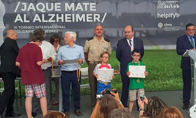 Presencia de la Federación Vasca en el Torneo 'Jaque Mate al Alzheimer'