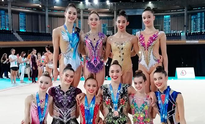 Lluvia de medallas para las gimnastas vascas en el Campeonato de España Individual y de Autonomías