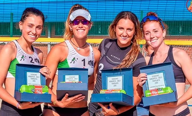 Nerea Ruiz y Oihane Gutiérrez, Campeonas de Euskadi de voley playa