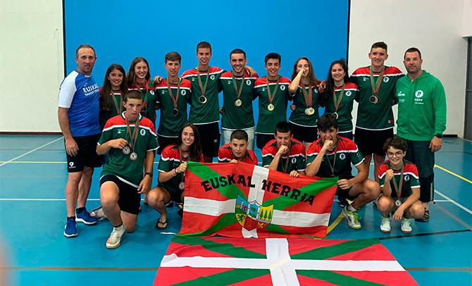 Diez medallas para Euskadi en el Europeo de Portugal