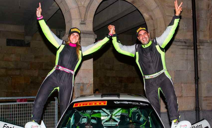 Aingeru Castro y Alaitz Urkiola, victoria y título en el  II Rallysprint Ugao-Miraballes