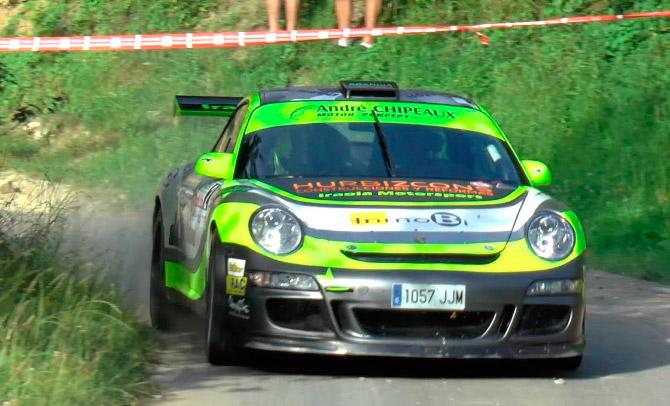 Victoria de Joseba Iraola y Sheila Lafuente en el II Rallye Goilurrak