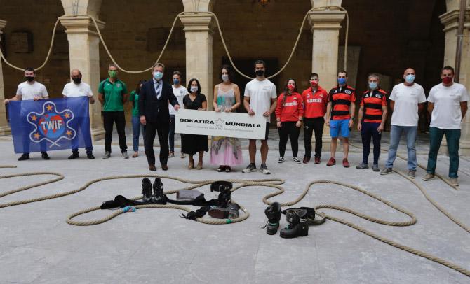 Se presenta el Campeonato Mundial de Sokatira en tierra, que  se celebrará en Getxo en septiembre de 2021