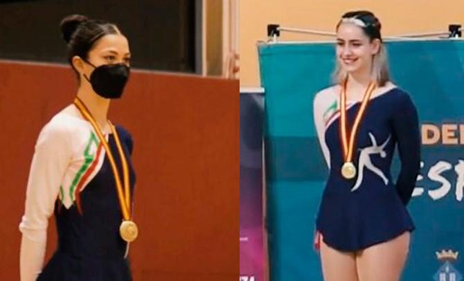 Dos patinadoras de la Federación Vasca, campeonas de España