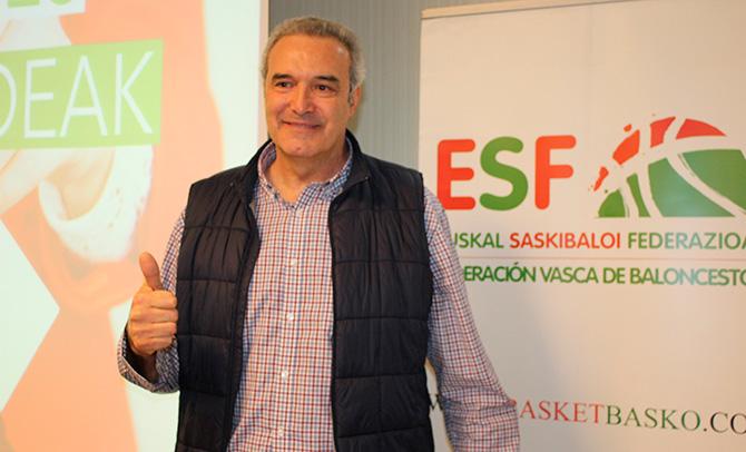 Sautu, Euskadiko Saskibaloi Federazioko lehendakari berria