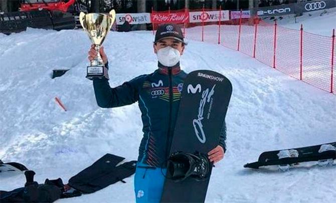 Primer podio del snowboarder Álvaro Romero en la Copa de Europa