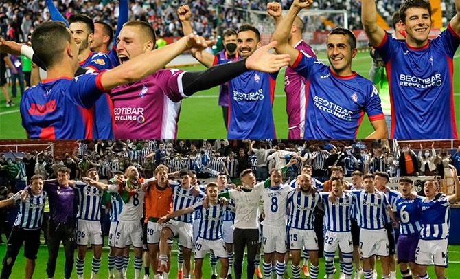 Ascensos de Real Sociedad B y Amorebieta