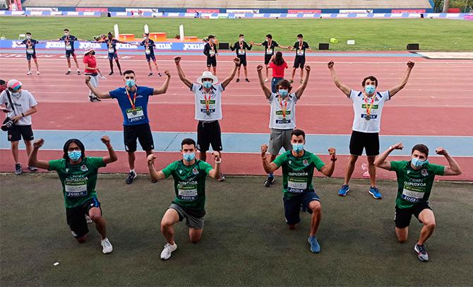 Gran actuación vasca en los Campeonatos de España Atletismo de Getafe