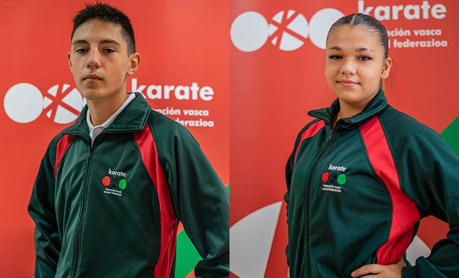 Naia Bilbao eta Álex Ortiz de Zarate Europako txapelketara joango dira, kadete juniorren eta 21 urtez azpikoen kategorian