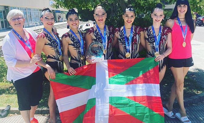 La gimnasia vasca consigue doce medallas en las Copas de España y Campeonato de España Base de Valladolid