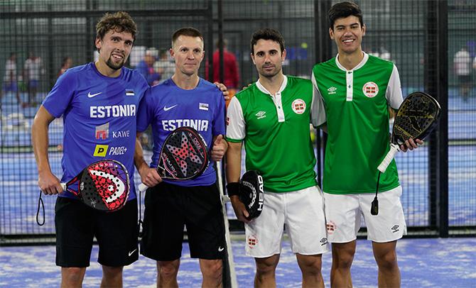 Euskadi, en el Campeonato de Europa de Pádel